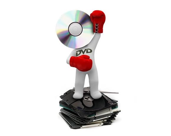 O DVD simplesmente nocauteia o disquete sem dó.