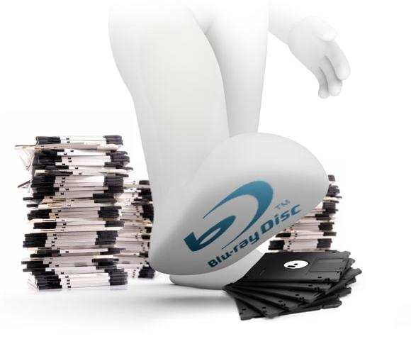 O Blu-ray simplesmente massacra milhões de disquetes de uma só  vez.