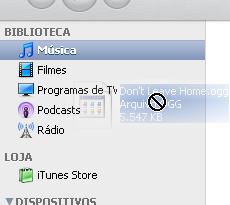 O formato OGG não pode ser adicionado