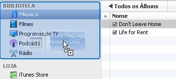 Com o plugin você pode inserir os arquivos