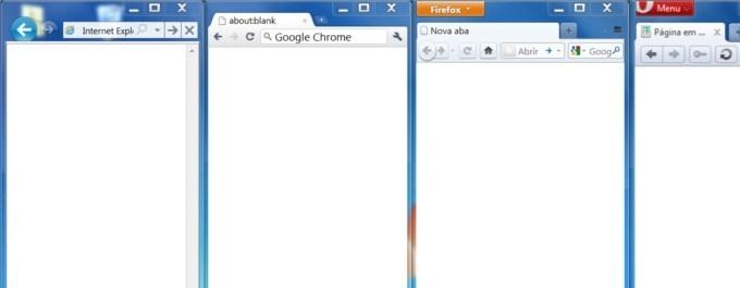 Comparação entre navegadores