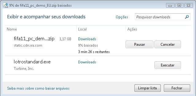 Gerenciador de downloads