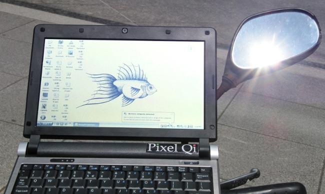 Tela sem reflexo da Pixel Qi. Foto: Pixel Qi.