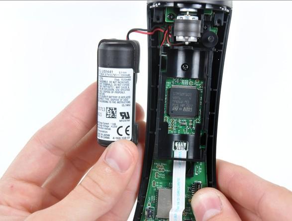A bateria também é facilmente removida