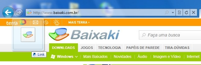 Arraste o favicon