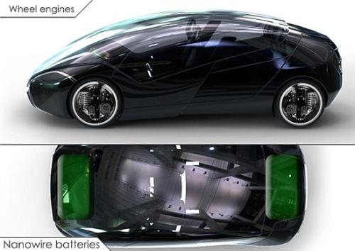 Teto de vidro e baterias nas rodas