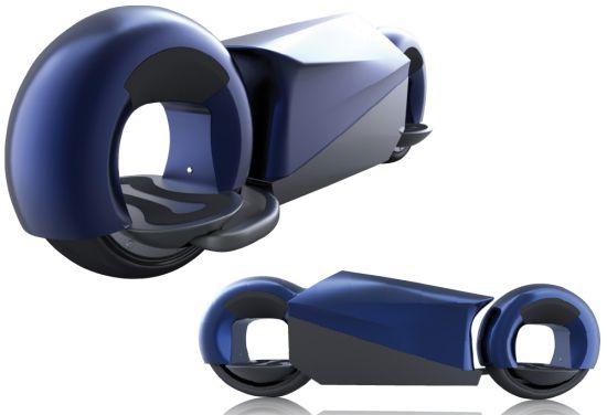 Conceito de skate com aparência futurista