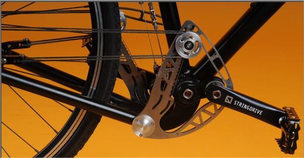Visão do sistema simétrico da Stringbike