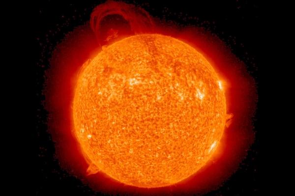 O Sol e suas explosões.