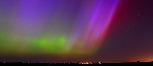 Aurora Boreal, fenômeno ocasionado pelas ações solares.