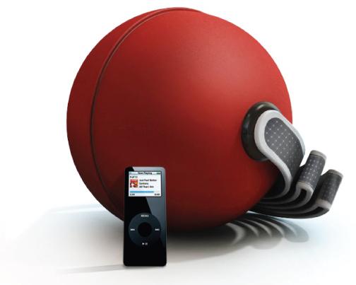 Bola se transforma em caixinha de som