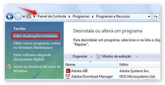 Como desinstalar o Internet Explorer 9.