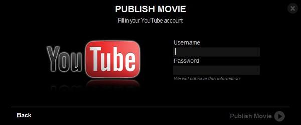 Faça seu login e confirme o envio do vídeo