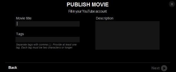 Insira informações sobre o vídeo
