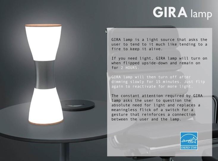 Luminária sustentável fornece 300 mil horas de luz.