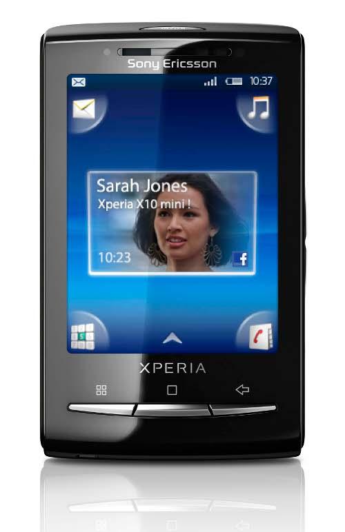 Xperia X10 Mini. Divulgação: Sony Ericsson