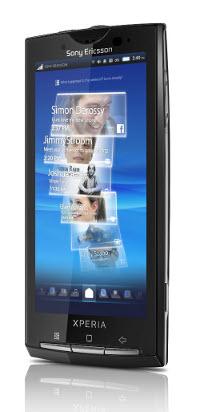 Xperia X10. Divulgação: Sony Ericsson