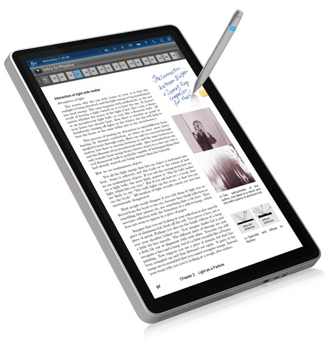 Tablet com possibilidade de escrita por caneta