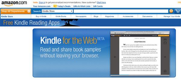 Versão do Kindle para web