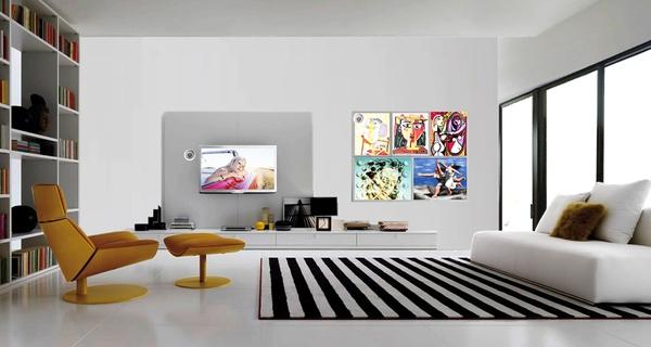 Conceito de casa com telas OLED