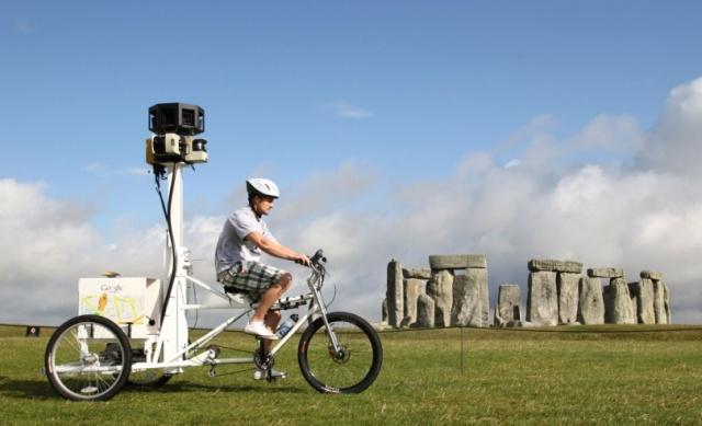 Google Trike em ação. Divulgação/Google Discovery