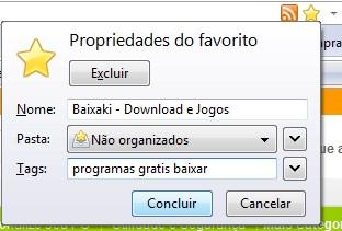 Possíveis tags para o Baixaki