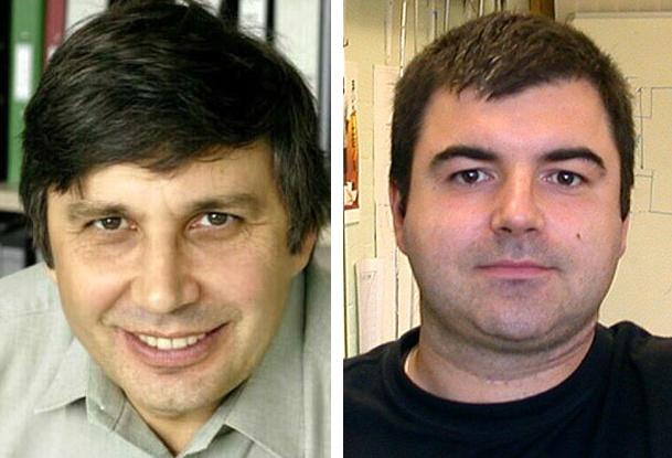 Andre Geim e Konstantin Novoselov. Fonte: Wikimedia Commons.