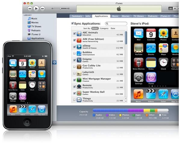 O aparelho é dependente do iTunes.