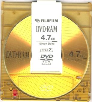 Um DVD-RAM.
