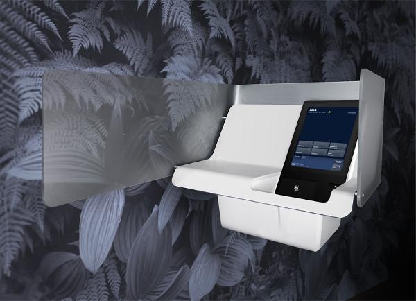 Caixa automático que se parece com um iPod gigante