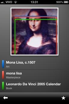 Pesquisa pelo quadro Mona Lisa.