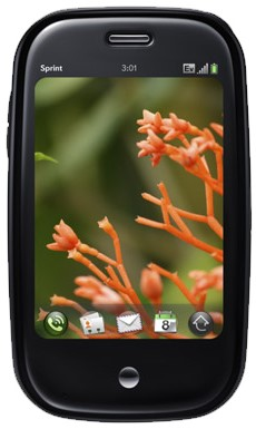 O Palm Pre, lançado em junho do ano passado. Fonte: Palm Inc.