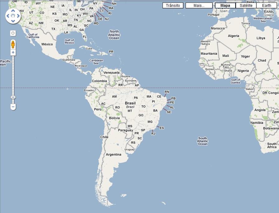 Sim! Até no Google Maps