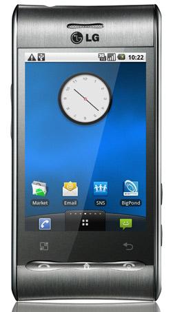 LG Optimus, smartphone Android com tela resistiva