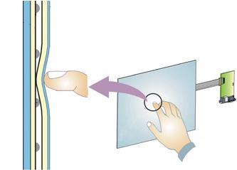 Detalhe do funcionamento de telas resistivas