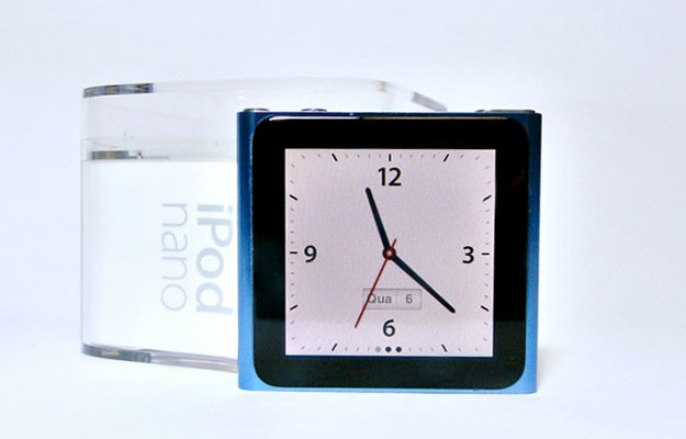 O relógio do iPod nano 6G.
