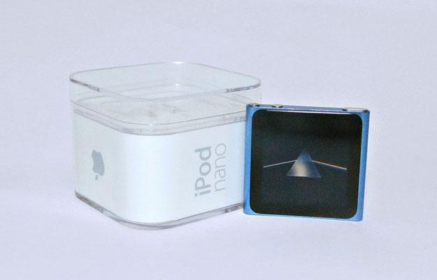 A caixa do iPod nano.