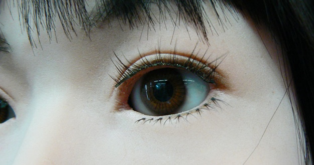 Detalhe do olho do modelo HRP-4C.