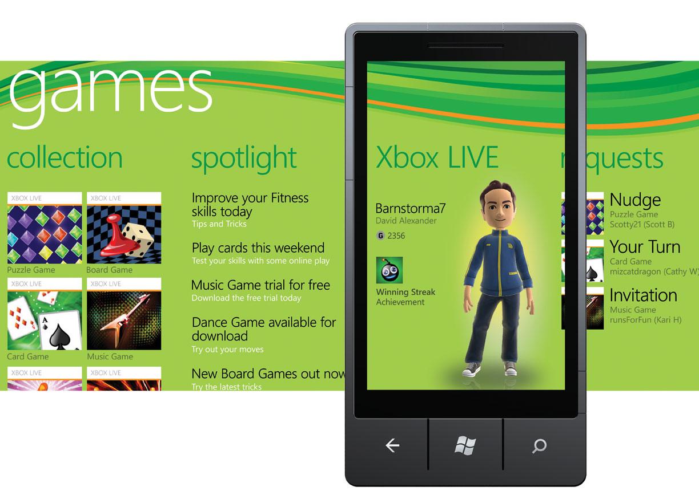 Sistema de jogos integrado à rede Xbox Live.