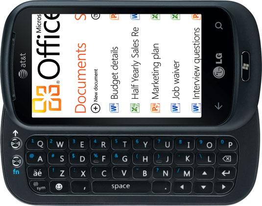 LG Quantum com o novo Windows Phone 7.