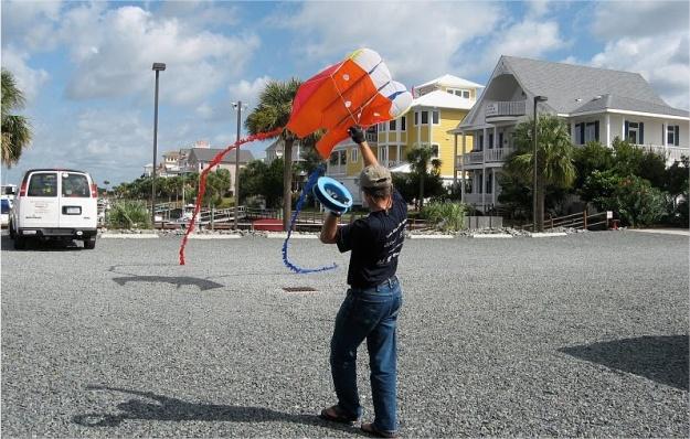 Lançando a pipa ao ar