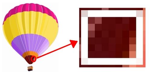 Pixels.