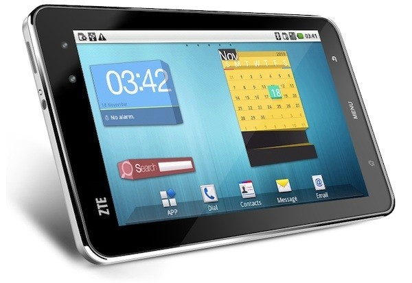 ZTE Light, nova tablet rodando Android 2.1