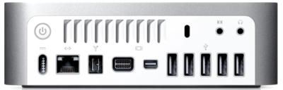 Mac Mini também com Mini DisplayPort
