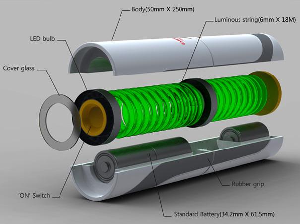 Movida a bateria e com iluminação de LED