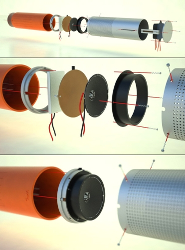 Componentes da caixa de som