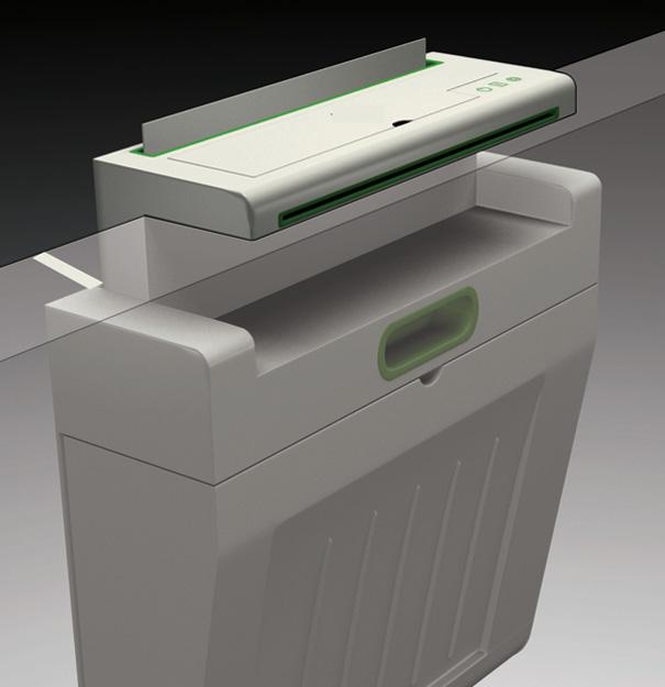Impressora suspensa para economizar espaço