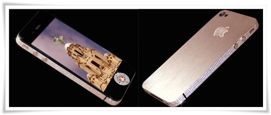 iPhone 4 todo cravejado com diamantes.