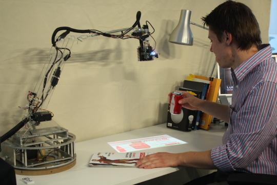 LumiAR: um dos projetos desenvolvidos no MIT Media Lab. Foto: Divulgação/Media Lab.
