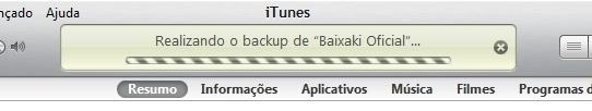 Faça backup com o iTunes!